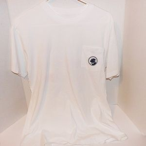 Southern Proper Small Bow Tie Pocket T Shirt-White
